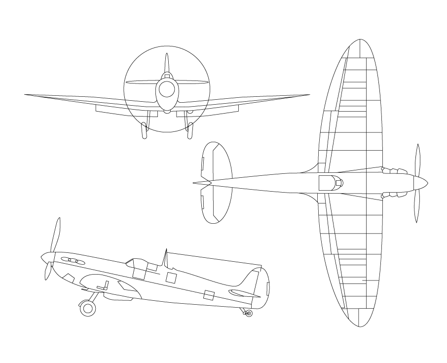 Spitfire illustration