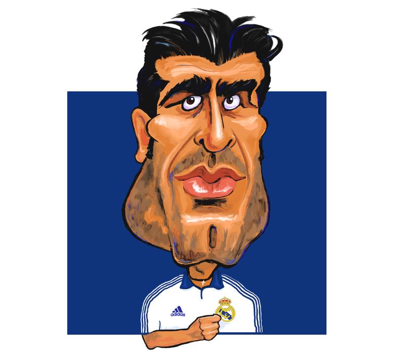 Luis Figo caricature