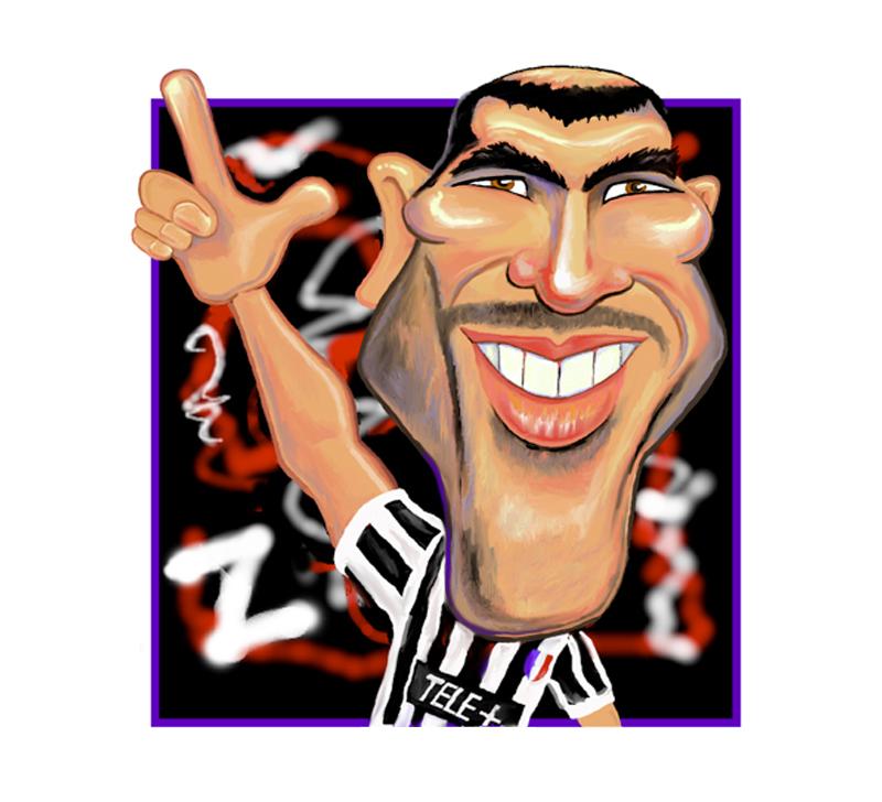 Zidane caricature