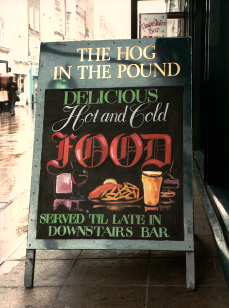 Hog in the pound, London pub
