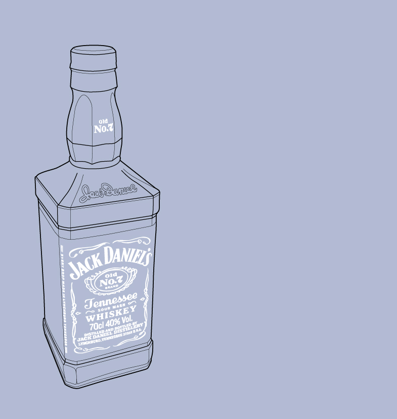 Jack Daniels product illustration