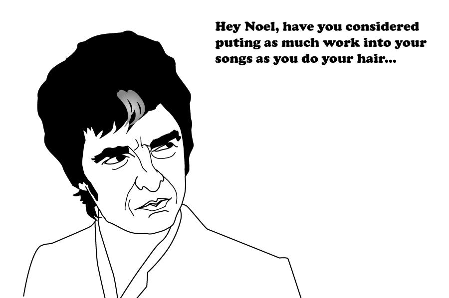 Noel Gallagher's hair