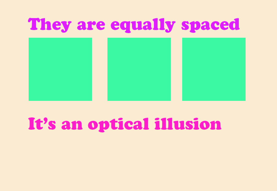 equally spaced