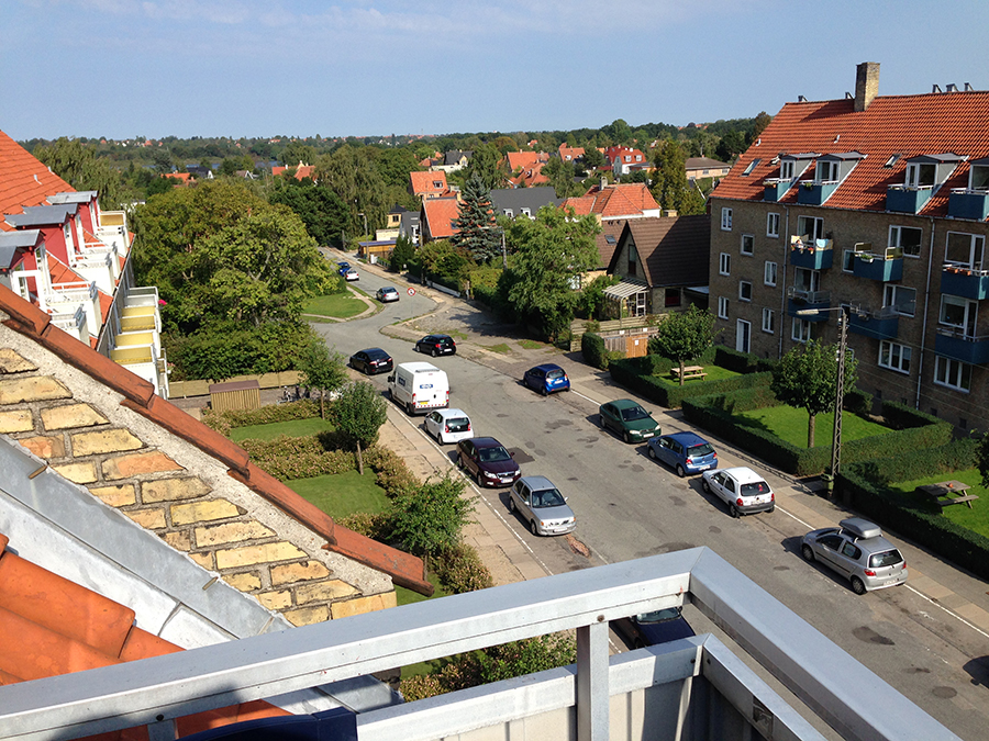 Copenhagen designer's balcony
