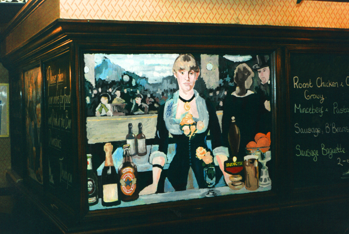 manet blackboard art
