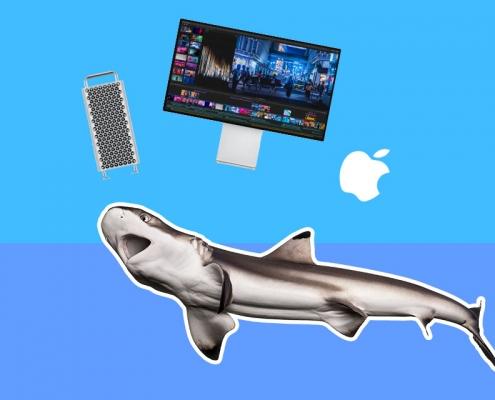 shark apple jumping